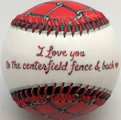 I Love You Centerfield Fence Baseball