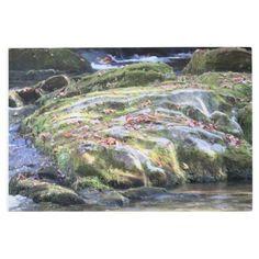 River Rock Landscape Metal Print - photography gifts diy custom unique special