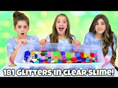 Mixing 181 Glitters into Giant Clear Slime! Glitter Lipstick, Glitter Slime, Slime Lab, Glitter Shower Curtain, Sliming World, Clear Slime, Diy Slime, Glass Animals, Things To Think About