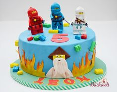 Ninjago Torte / cake - Jennys Backwelt - New Ideas Lego Ninjago Cake, Ninjago Party, Lego Cake, 4th Birthday Parties, Baby Birthday, Birthday Cake, Birthday Ideas, Torte Cake, Le Chef