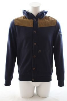 Duck and Cover Gerard Hooded Sweatshirt Blue Black was £75 now £50