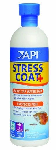 API Stress Coat Bottle Removes Chlorine Chloramines Detoxifies Heavy Metal 16 oz