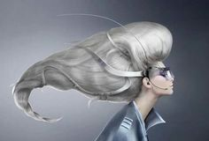 Somedays, this is how big my hair feels. Fantasy in Silver.