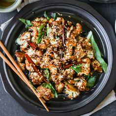 General Tso's Baked Cauliflower - easier, healthier, tastier!