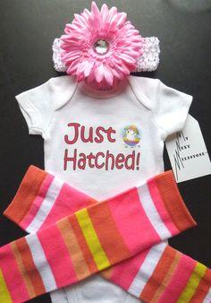 Easter Bunny Just Hatched Newborn Onesie by MyNextMilestone, $33.00