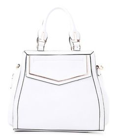 WOW! White Envelope Satchel on #zulily! #Purse #deal Reg $239 NOW $34.49!!