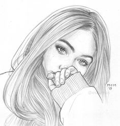 Matt Mas on Instagra Pencil Drawings Of Girls, Girl Drawing Sketches, Girly Drawings, Cool Art Drawings, Face Sketch, Realistic Drawings, Illustration Sketches, Easy Drawings, Sketches Of Girls