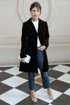 Jeanne Damas style file: Paris Fashion Week, 2017. Image credit: Getty