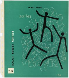 """Book Cover, Bookjacket by Alvin Lustig for """"Exiles"""" by James Joyce, New Directions Books, 1947"""