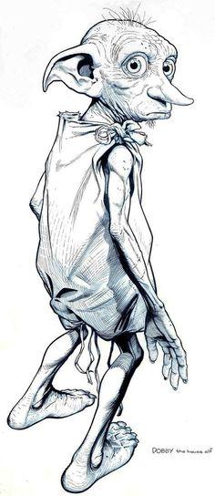 Dobby- the first free elf by jerome-k-moore harry potter in 2019 dibujos de Dobby Harry Potter, Harry Potter Tattoos, Arte Do Harry Potter, Harry Potter Drawings, Harry Potter World, Harry Potter Sketch, Fanart Harry Potter, Hogwarts, Pencil Art Drawings