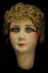 A real beauty, french hand painted boudoir doll head.