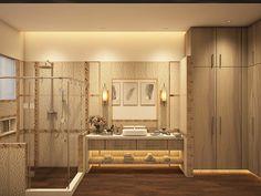 #ModernBathrooms 3D Design Idea by Team #AmerAdnanAssociates #InteriorDesign #Architect #AAA Bathroom Designs, Bathroom Interior Design, 3d Design, Modern Bathroom, Mirror, Furniture, Home Decor, Funky Bathroom, Decoration Home