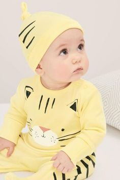 Yellow Cat Sleepsuit And Hat (0mths-2yrs) Yellow Cat 69090c62e928f