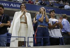 Kendall Jenner Gigi Hadid and her boyfriend Joe Jonas attend the Williams sisters match on day nine of the 2015 US Open at USTA Billie Jean King...