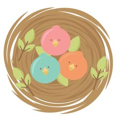 Baby Birds SVG cutting files for scrapbooking  cute svg cuts free svgs for cricut cutting files silhouette