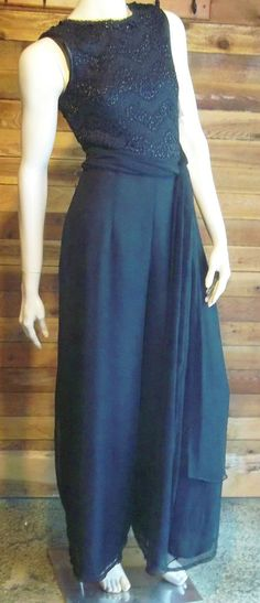 NWT SCOTT MCCLINTOCK SIZE 8 BLACK FORMAL GOWN PANTS