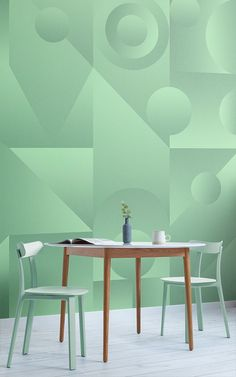 At MuralsWallpaper, we've been inspired by the Neo Mint colour trend for 2020 to create this Abstract Shape Gradient Wallpaper Mural: a unique design formed with geometric shapes and a cool gradient effect that adds a 3D feel to the design. Offering a more unusual take on gradient wallpaper, this 80's inspired design allows you to express your unique design style.
