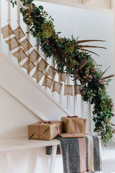 Christmas is coming, how is your home decorated? What I want to remind you is: Don't forget the Christmas staircase decoration. We have provided you with 30 best Christmas staircase decoration ideas, please enjoy! Christmas Stairs Decorations, Diy Christmas Garland, Rustic Christmas, Simple Christmas, Christmas Trees, Christmas Fireplace Garland, Winter Decorations, Coastal Christmas, Christmas Kitchen