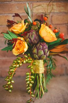 Fall Flowers - Love the artichokes