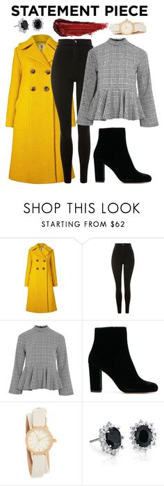 """""""Boho brat💋"""" by gamonlouisa ❤ liked on Polyvore featuring Orla Kiely, Topshop, Tory Burch, Blue Nile, By Terry and statementcoats"""