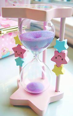 Kawaii Twinkle Stars hourglass such a cute decoration Kawaii Shop, Kawaii Cute, Kawaii Diy, All Things Cute, Girly Things, Kawaii Things, Kawaii Stuff, Kawaii Bedroom, Cute Room Decor