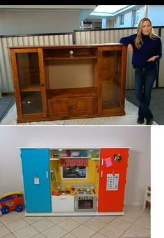 Charmant Old TV Unit To Kids Kitchen   Http://au.lifestyle.yahoo