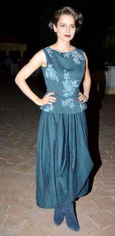 Kangana Ranaut at the launch of Anupama Chopra's latest book 'The Front Row'. #Bollywood #Fashion #Style #Beauty