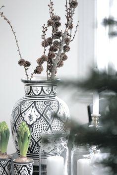 black and white for Christmas decor
