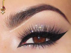 cat eye makeup glitter Glitter Eye Makeup Tumblr