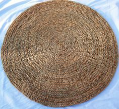163 49 99 Extra Large Round Natural Braided Rug Jute