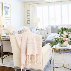 Touches of blush before Christmas decor makes its debut! I don't decorate until I can see Thanksgiving in the horizon. I'm old fashioned! Are you? http://liketk.it/2tnhS #liketkit @liketoknow.it #LTKhome #LTKstyletip