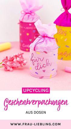 DIY Upcycling Geschenkverpackung aus Dosen