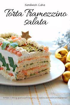 TORTA TRAMEZZINO SALATA - SANDWICH CAKE antipasto per Natale facile e veloce #sandwichcake #tortatramezzino #antipasto #natale #christmas #ricettedinatale #food #ricetta #recipe