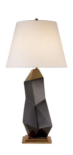 KELLY WEARSTLER | BAYLISS TABLE LAMP. Ceramic fractured lamp available in black or white