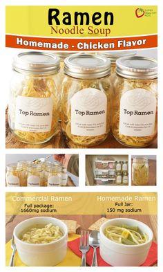 Homemade Top Ramen Recipe {Low Sodium} - Little known way to make Ramen without all that packaging! http://www.superhealthykids.com/homemade-top-ramen-low-sodium/