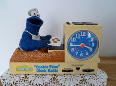 1977 Cookie Monster Vintage Sesame street Alarm Clock