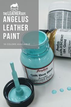Make your leather project truly one of kind with your own custom painted design! Angelus paints are vibrant, flexible, and long lasting! Find them at The Leather Guy. Painting Leather, Fabric Painting, Diy Painting, Leather Dye, Leather Tooling, Diy Leather Projects, Leather Crafts, Decorating Flip Flops, Leather Flowers