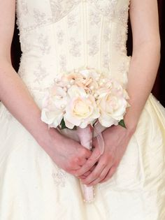 Wedding bouquet blush pink roses pearls par BrideinBloomWeddings, $110,00