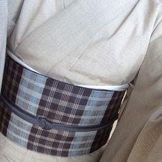 綿薩摩の着物と勝山健史さんの帯 #綿薩摩、#勝山健史 #塩蔵繭