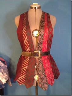Vest made out of men's neckties