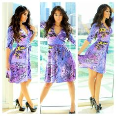 Hey, I found this really awesome Etsy listing at https://www.etsy.com/listing/110120177/purple-wrap-dress-abstract-animal-print