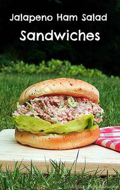 Bobbi's Kozy Kitchen - Jalapeno Ham Salad Sandwiches #summer #sundaysupper #sandwichrecipes