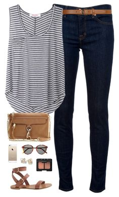 """ootd"" by classically-preppy ❤ liked on Polyvore featuring J Brand, Dorothy Perkins, Organic by John Patrick, J.Crew, Rebecca Minkoff, Kate Spade, NARS Cosmetics and Yves Saint Laurent"