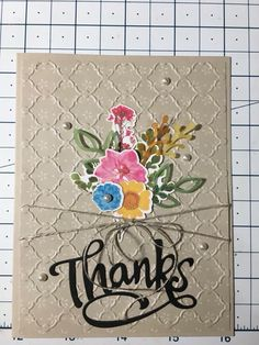Paper pumpkin wildflower wishes February 2018 Thank U Cards, Stampin Up Paper Pumpkin, Pumpkin Cards, Mosaic Madness, Embossed Cards, Card Making Techniques, Scrapbook Cards, Scrapbooking, Paper Cards