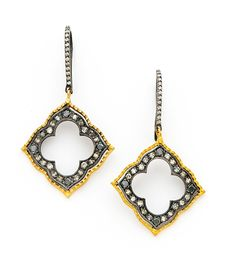 SUNEERA Small Isis Earrings with Champagne Diamonds