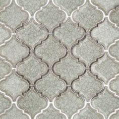 Frosty Morning Arabesque Glass Tile