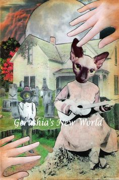Piaf Sings the Blues  Anthropomorphic by GerushiasWorld on Etsy, $14.00