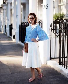 Chilled summer outfit - look de ontem com saia e bolsa Cris Barros, blusa Zara, sandália Blue Bird, relógio Shore Projects e óculos Gucci. Vic Ceridono | Dia de Beauté