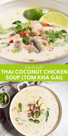 Factors You Need To Give Thought To When Selecting A Saucepan Low Carb Thai Coconut Chicken Soup Tom Kha Gai Made With Authentic Ingredients Including Lemongrass And Kaffir Lime Leaves, A Great Keto Soup Recipe, Works For Paleo And Too. Chicken Coconut Soup, Thai Coconut Soup, Whole Chicken Soup, Coconut Shrimp, Lemongrass Recipes, Lemongrass Soup, Coconut Lime Recipes, Asian Recipes, Gastronomia