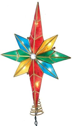National Tree Company 11 In Color Changing Led Star Of Bethlehem Battery Operated Christmas Topper Decor Pinterest